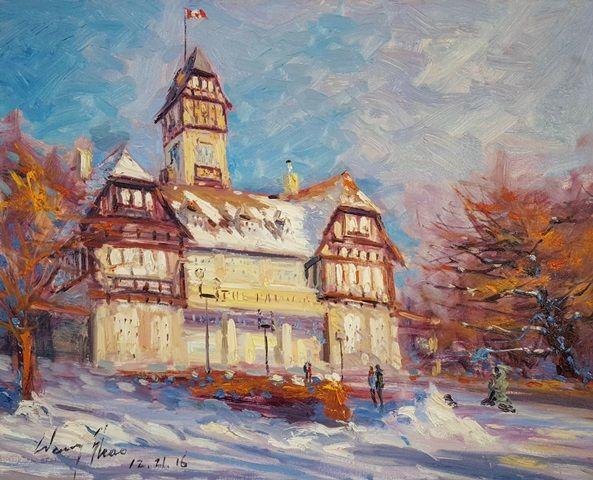 Assiniboine Park Pavilion in Winter
