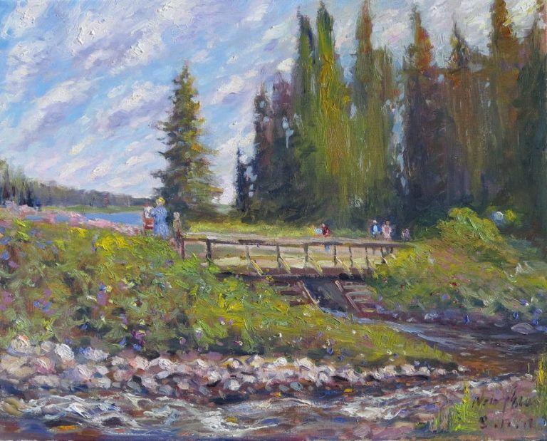 Painting on Whirlpool Lake