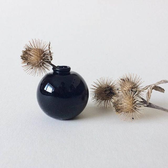 Mini & Small Black Bud Vase