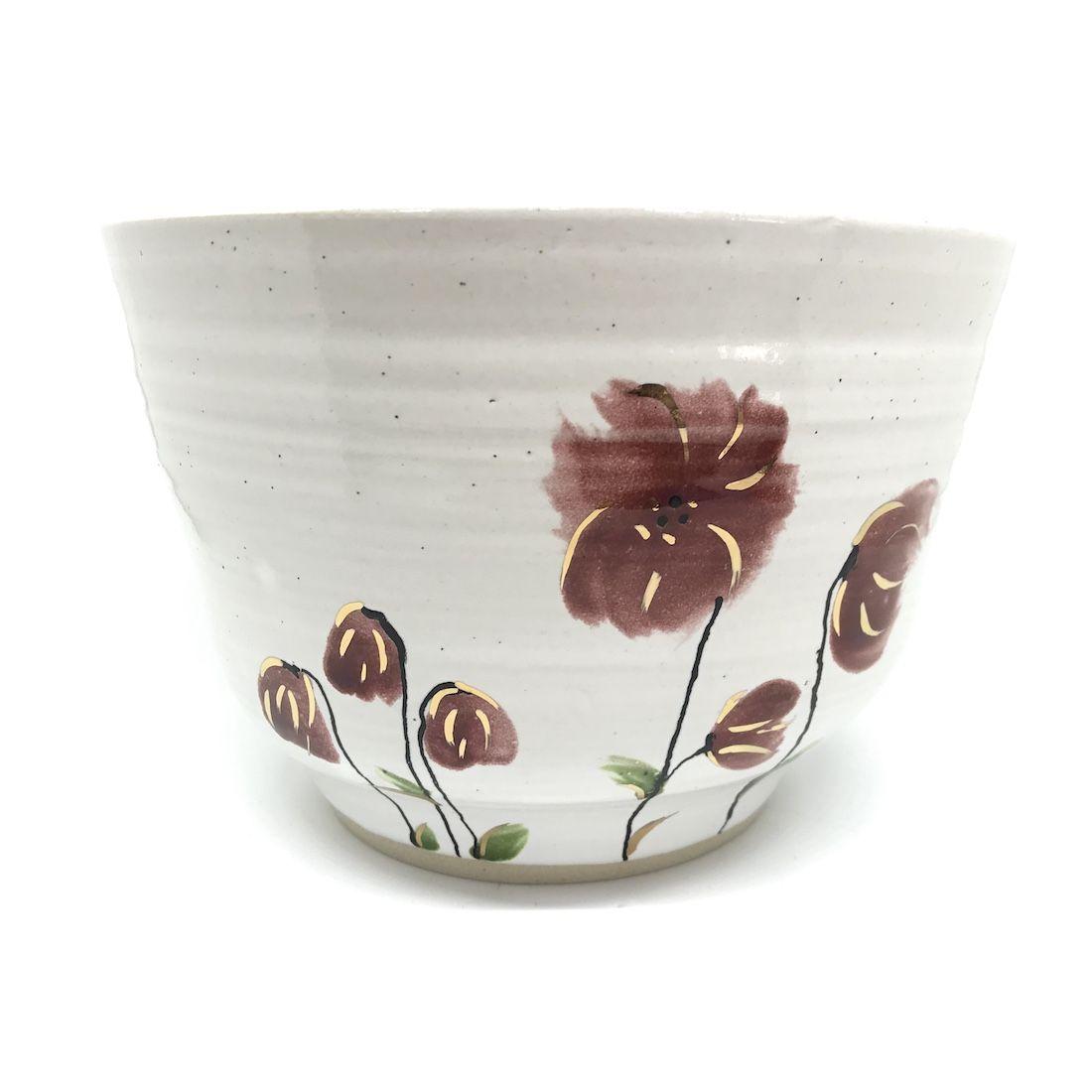 Large Floral & Gold Bowl