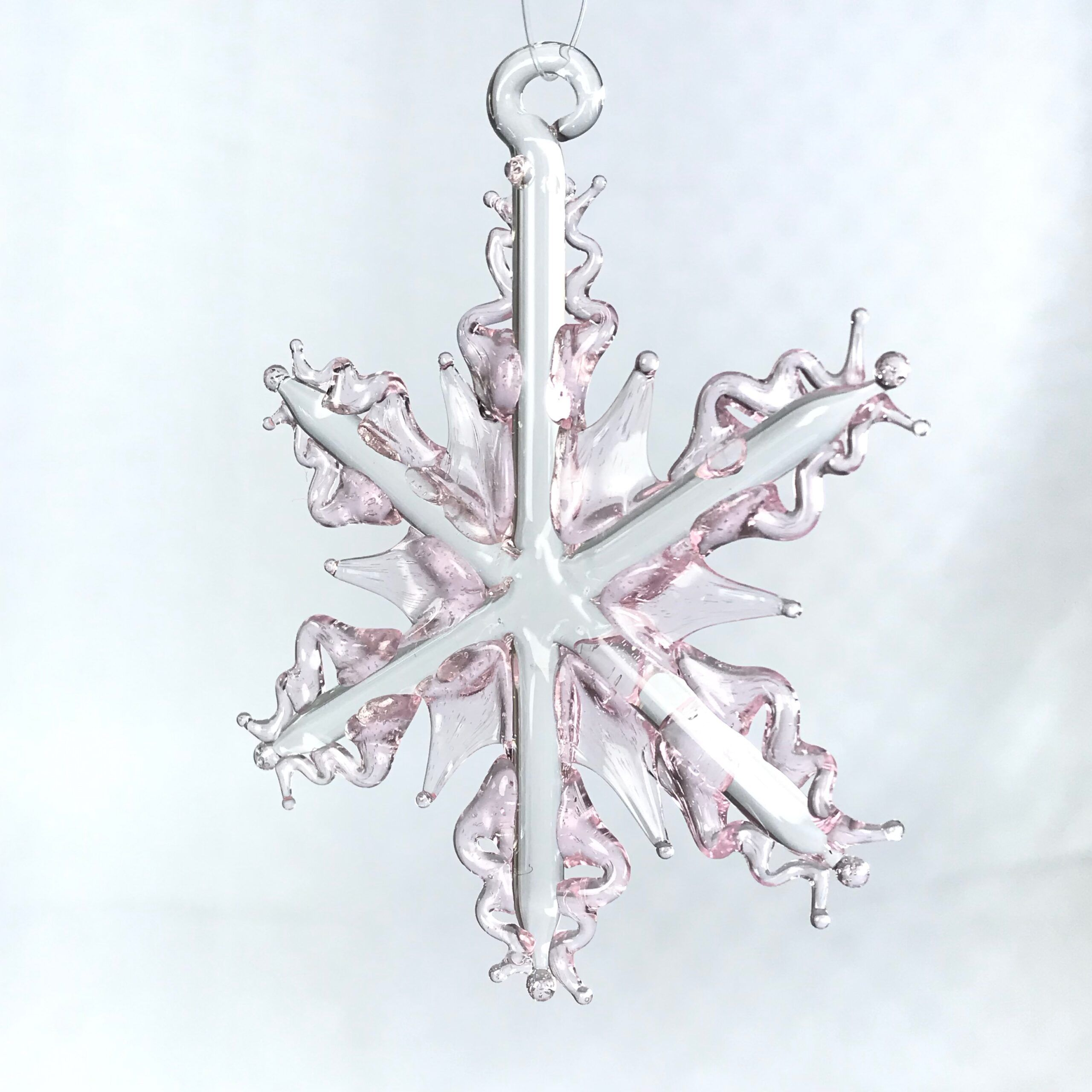 Soft Pink Snowflake Ornament