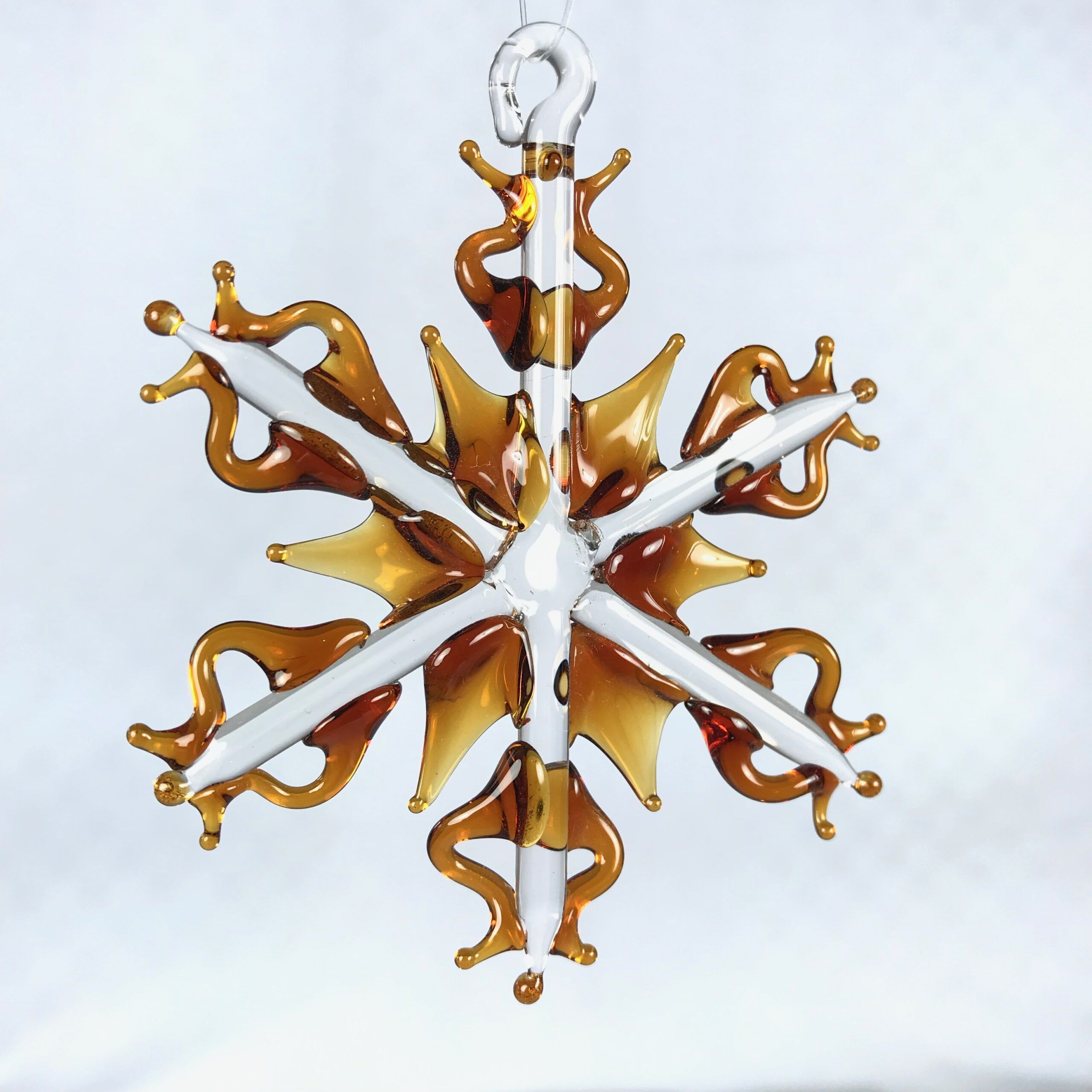Amber Snowflake Ornament