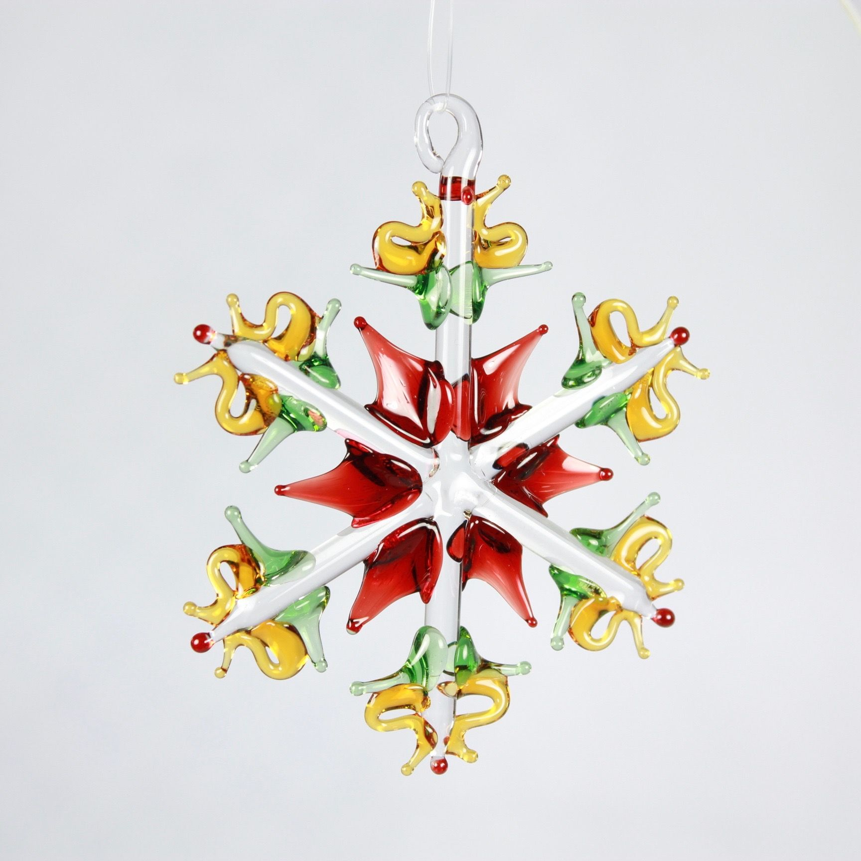 Red/Green/Yellow Snowflake Ornament