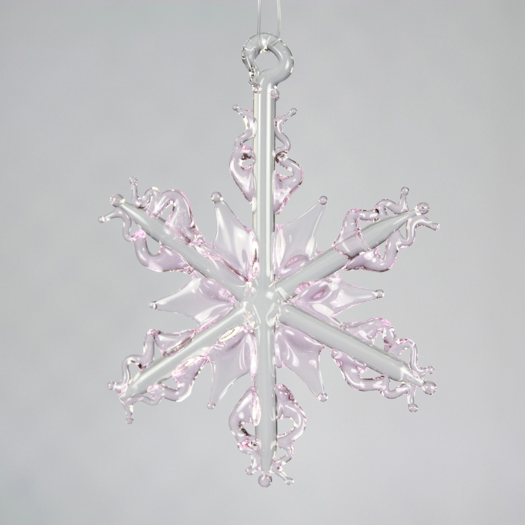 Light Pink Snowflake Ornament