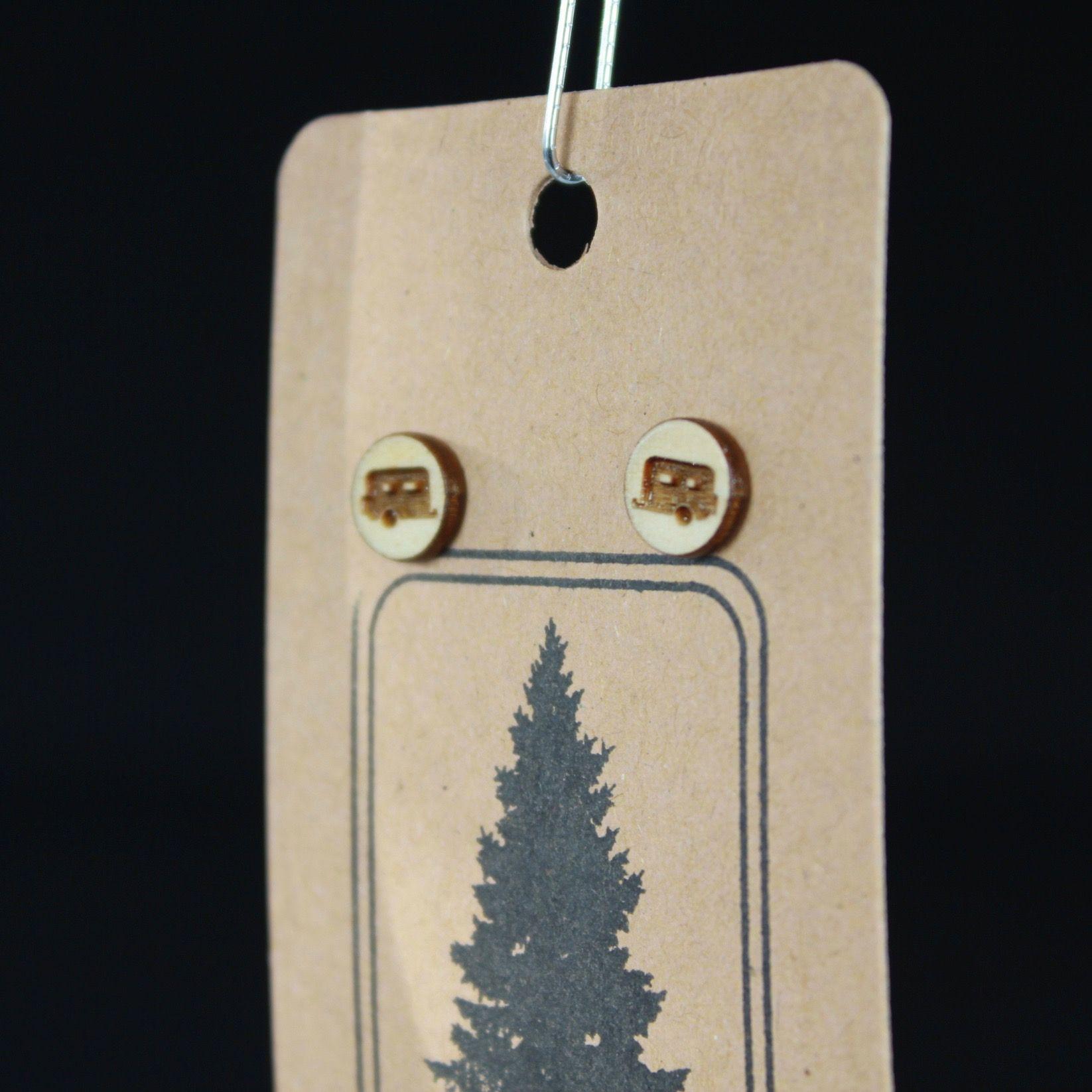 Wooden Camper Earrings