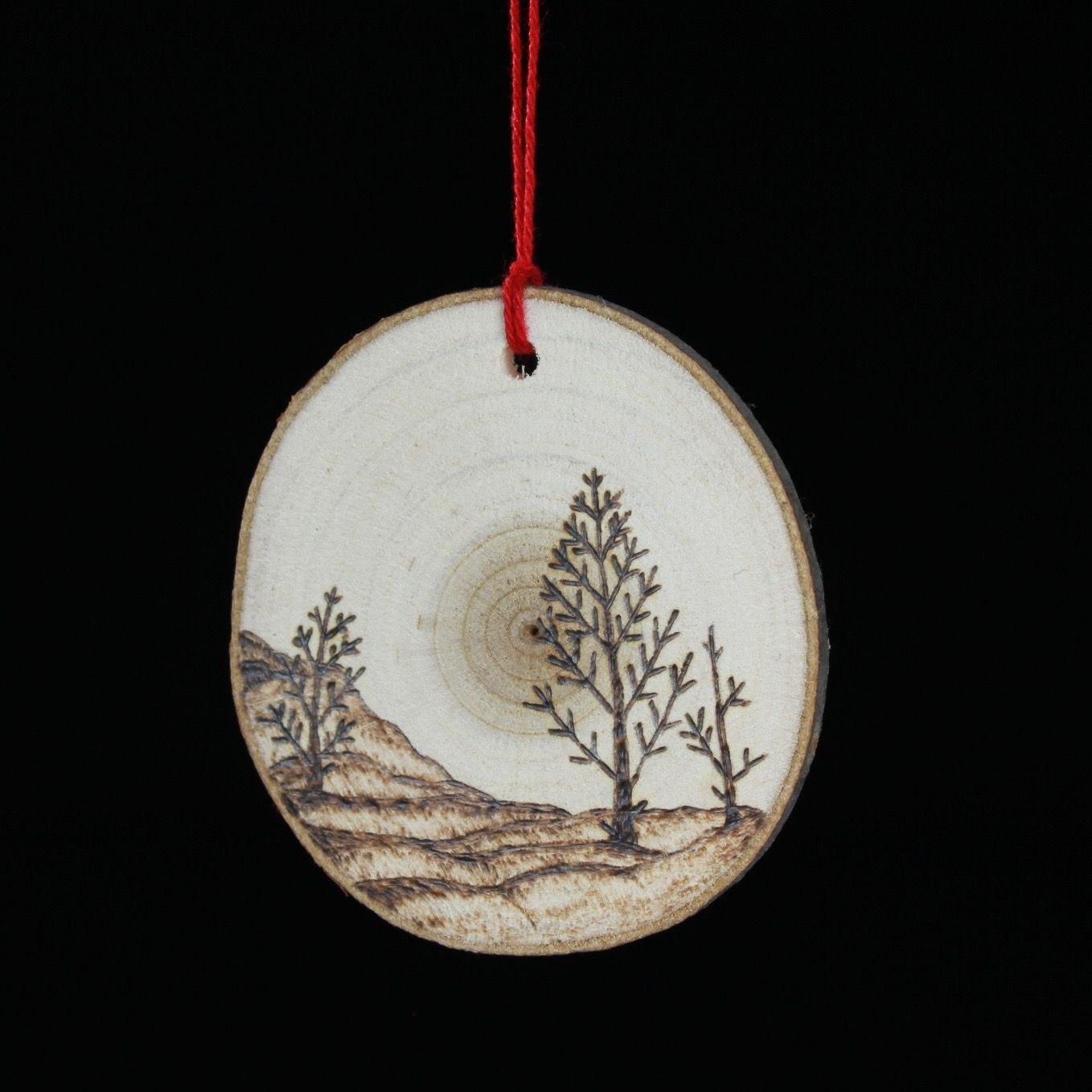 Trees On Hill Ornament