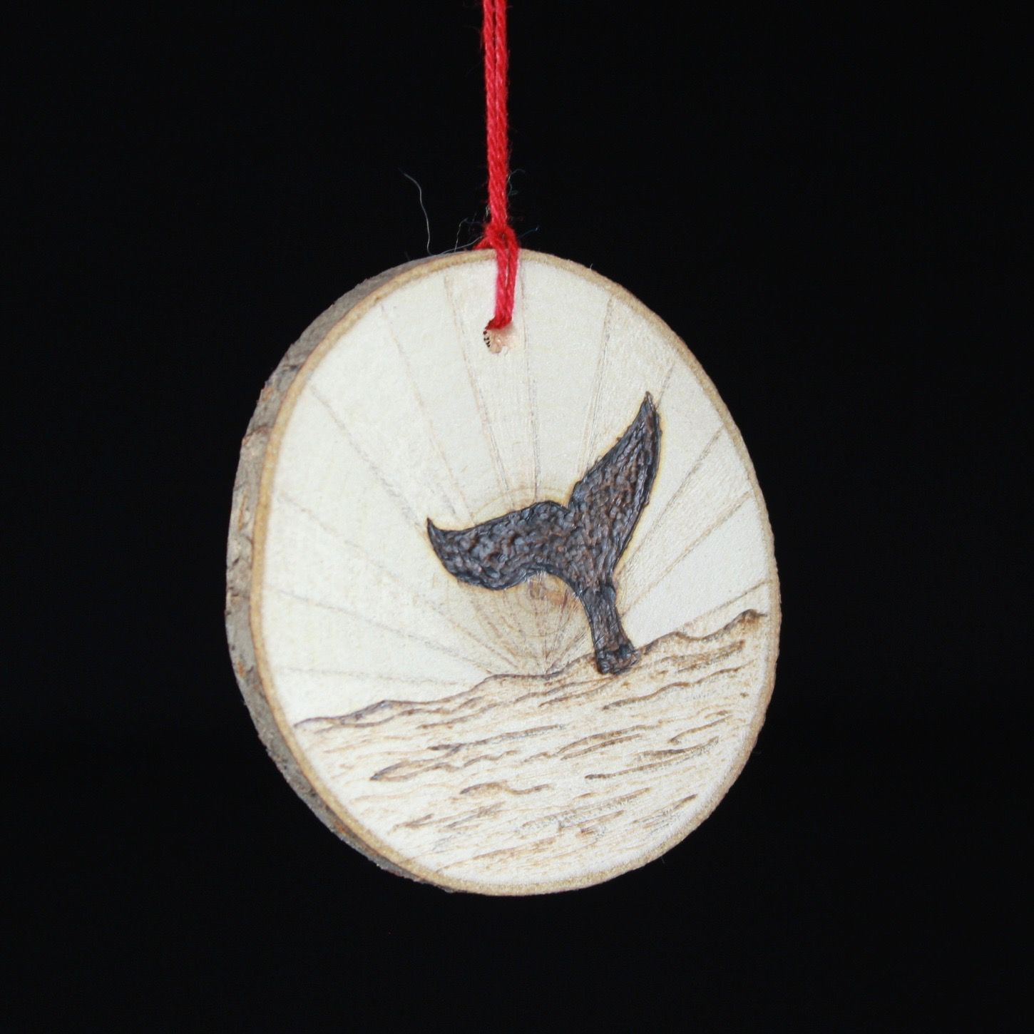 Whale Tail Ornament