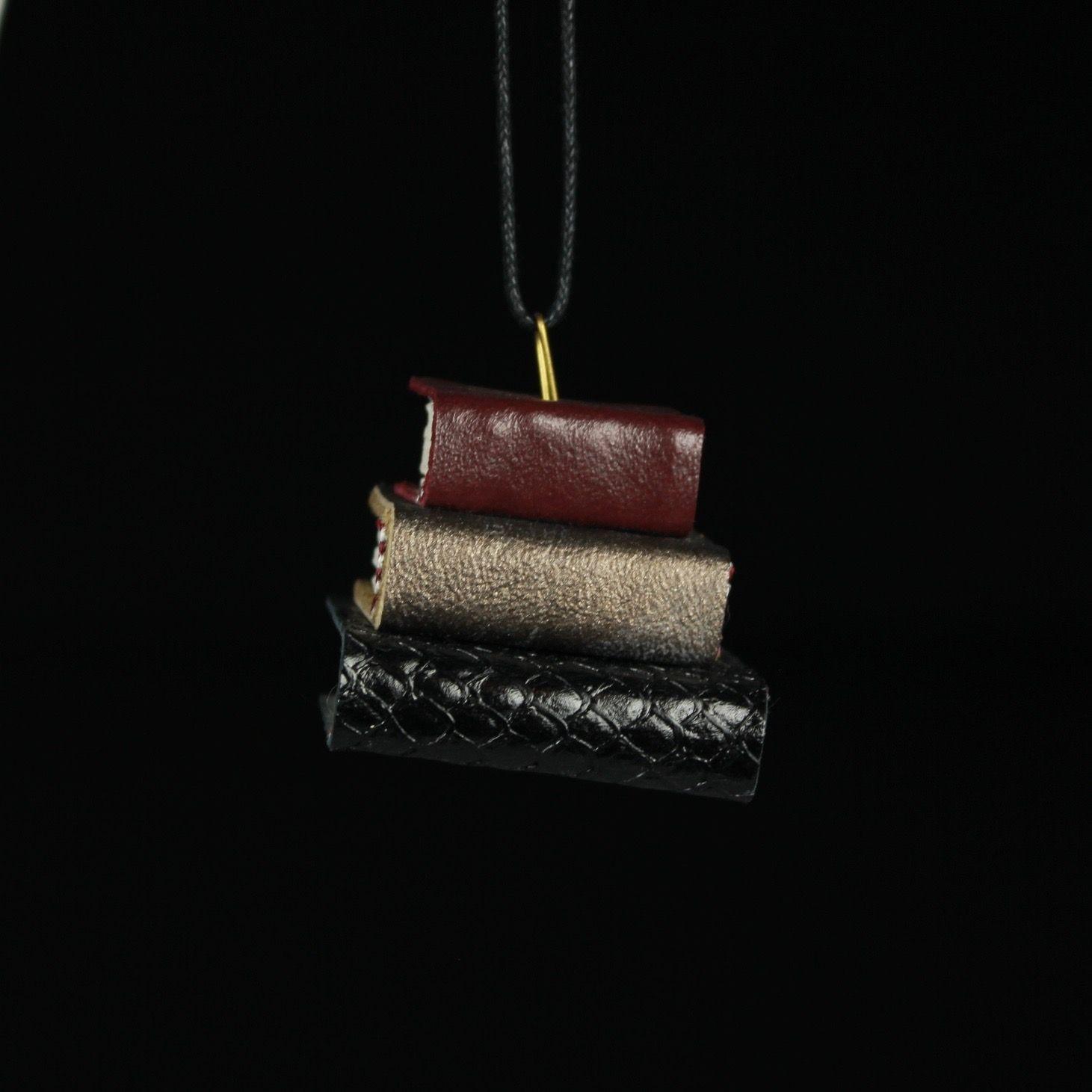Burgandy, Gold, & Black Book Ornament