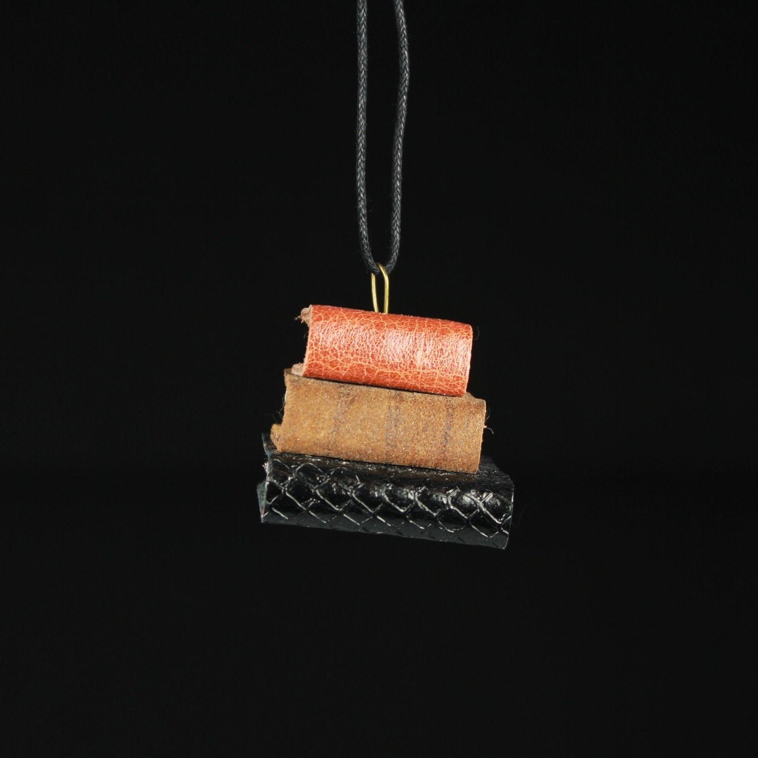 Brown, Tan, & Black Book Ornament