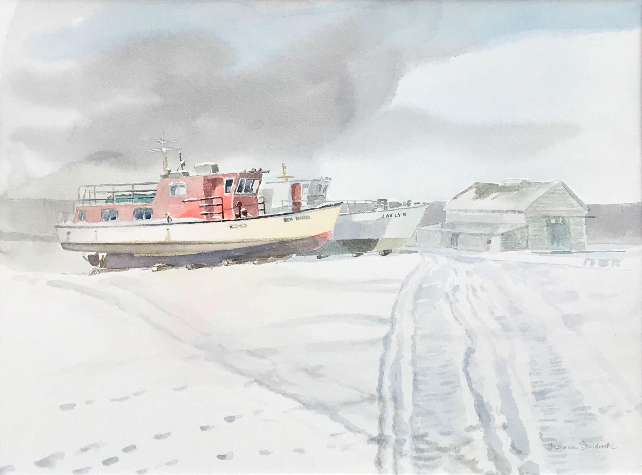 Still Winter (Hecla Island Village Icehouse & Wharf)