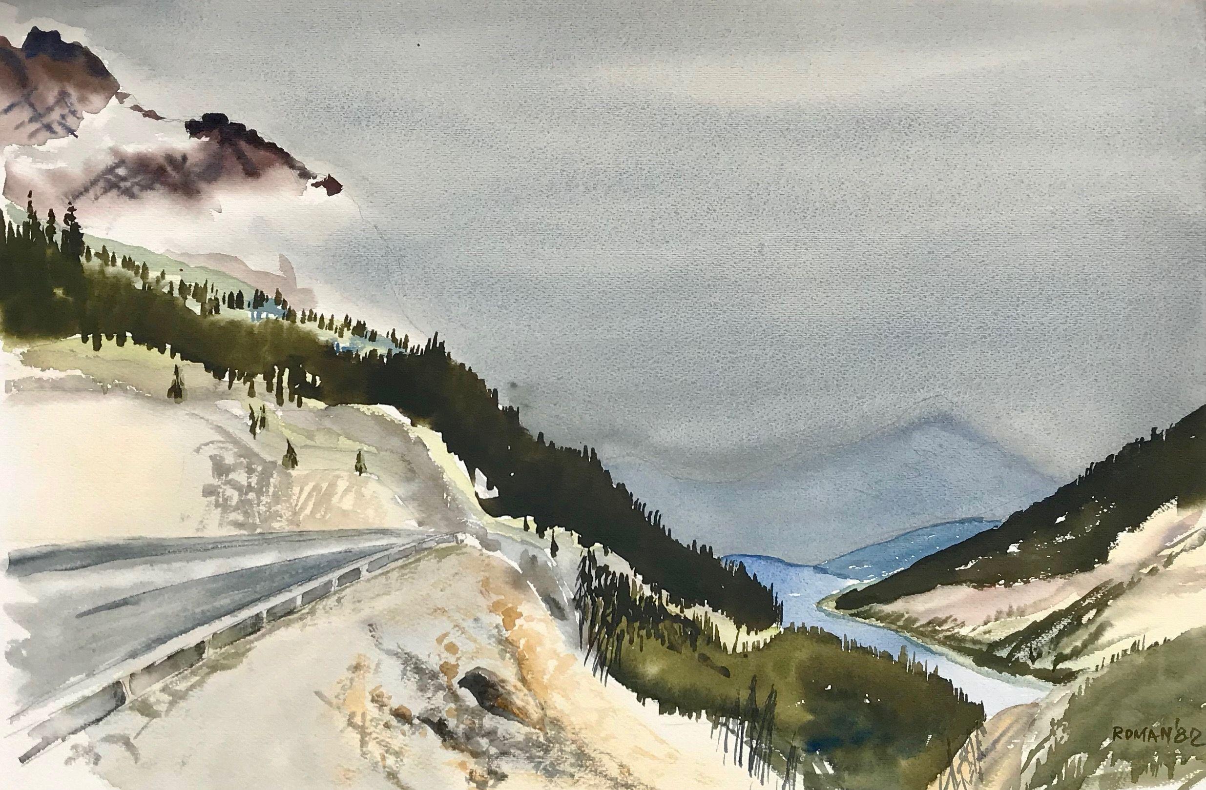 Hidden Mountains (Icefield Parkway Between Banff & Jasper)