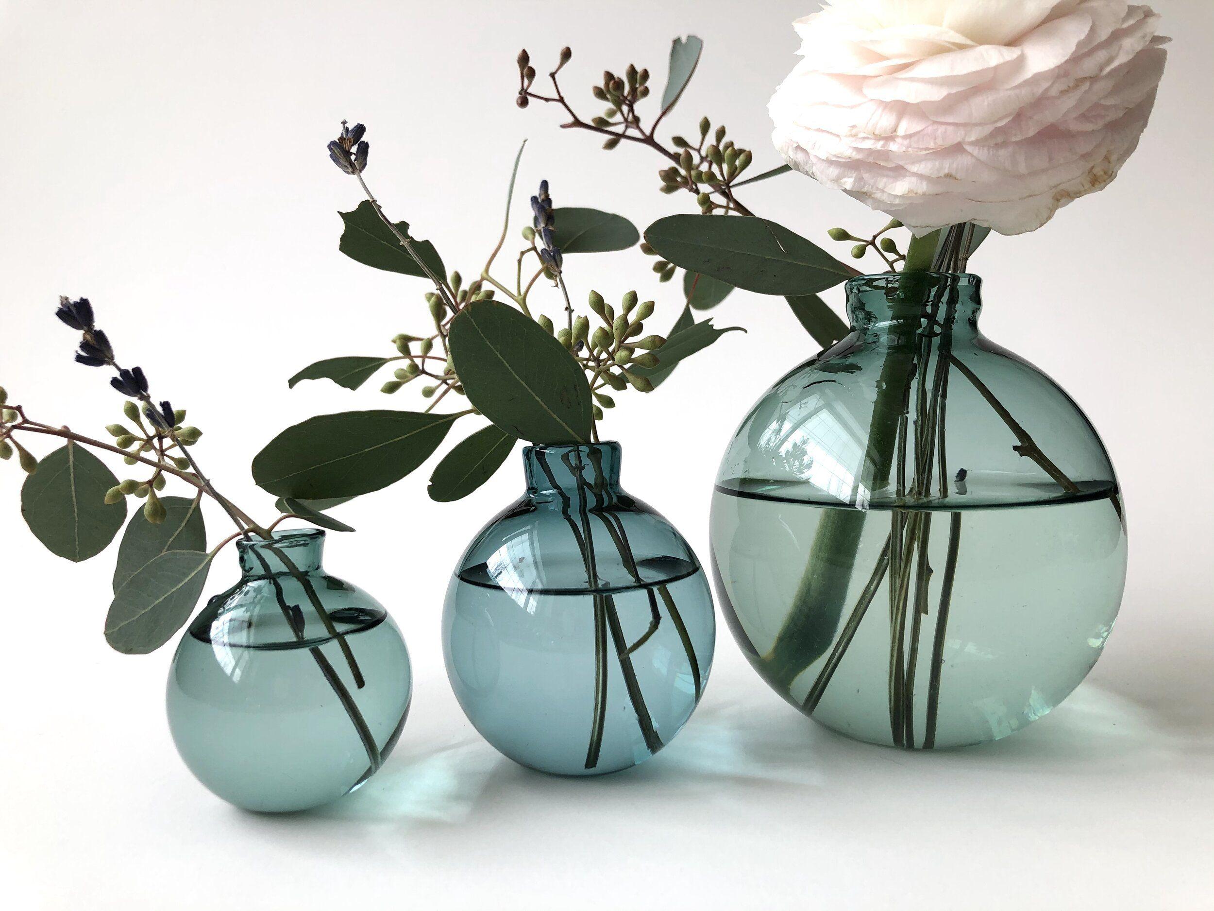 Lake Green Bud Vases (Set of 3)
