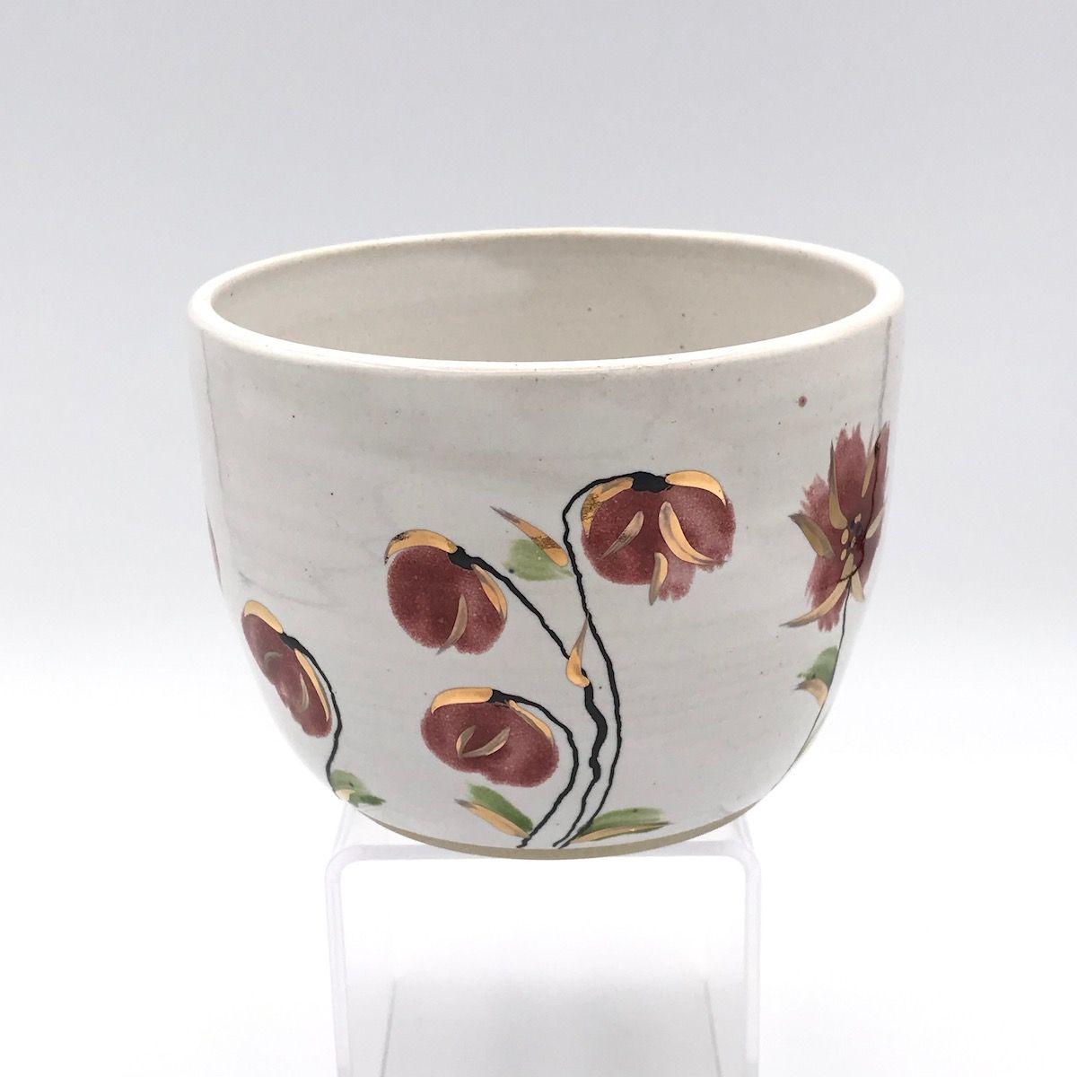 Floral & Gold Plant Pot